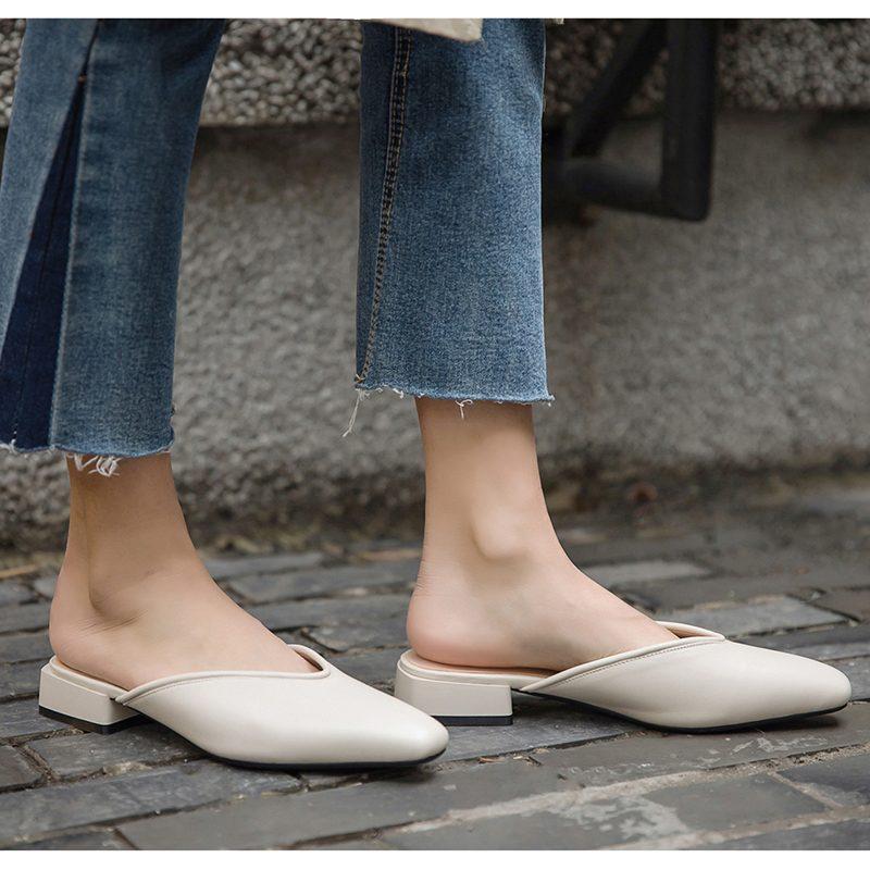 Chiko Harlee Square Toe Block Heels Clogs/Mules