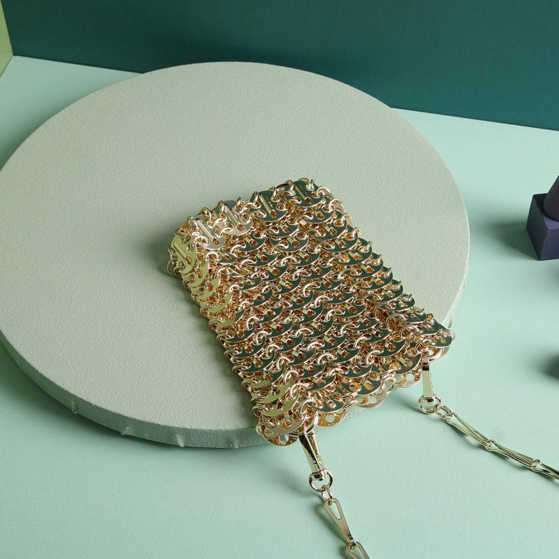 Chiko Georgene Brass Link Chain Mini Handbag