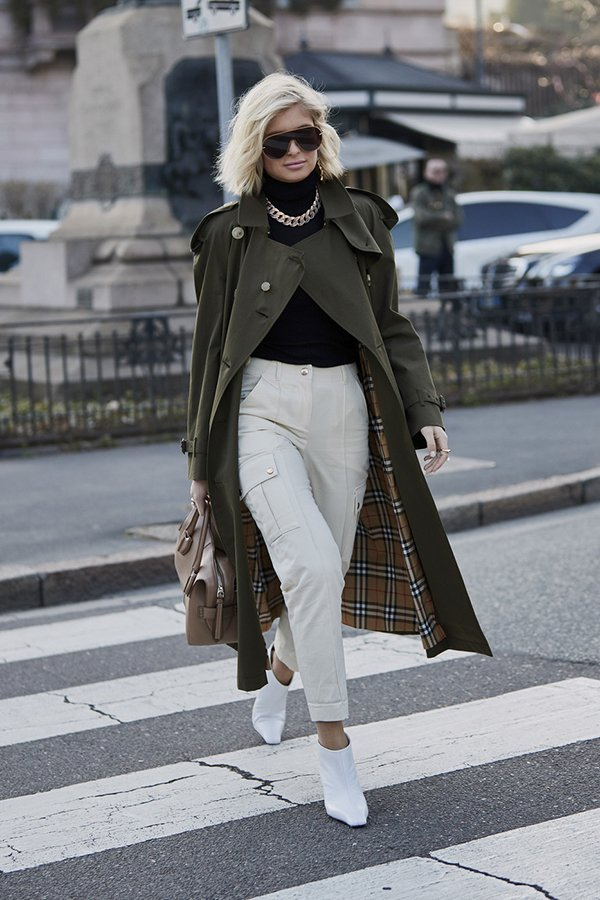white shoe trend street style