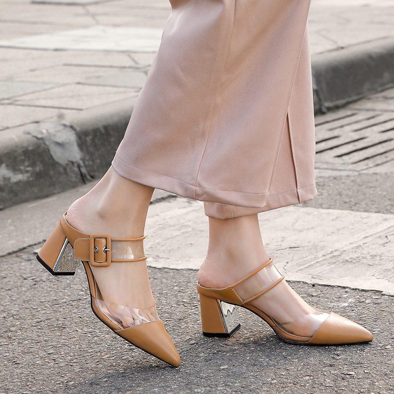 Chiko Jaimilynn Pointed Toe Block Heels Clogs/Mules