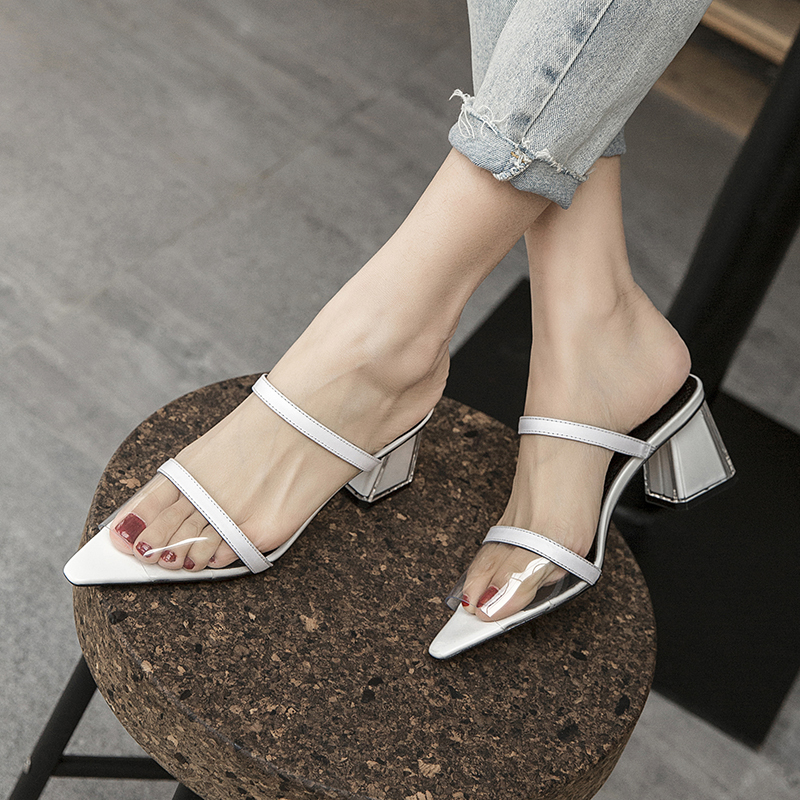 KANDAHL OPEN TOE BLOCK HEELS SANDALS