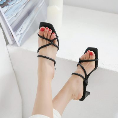 Chiko Kellsey Open Toe Chunky Heels Sandals