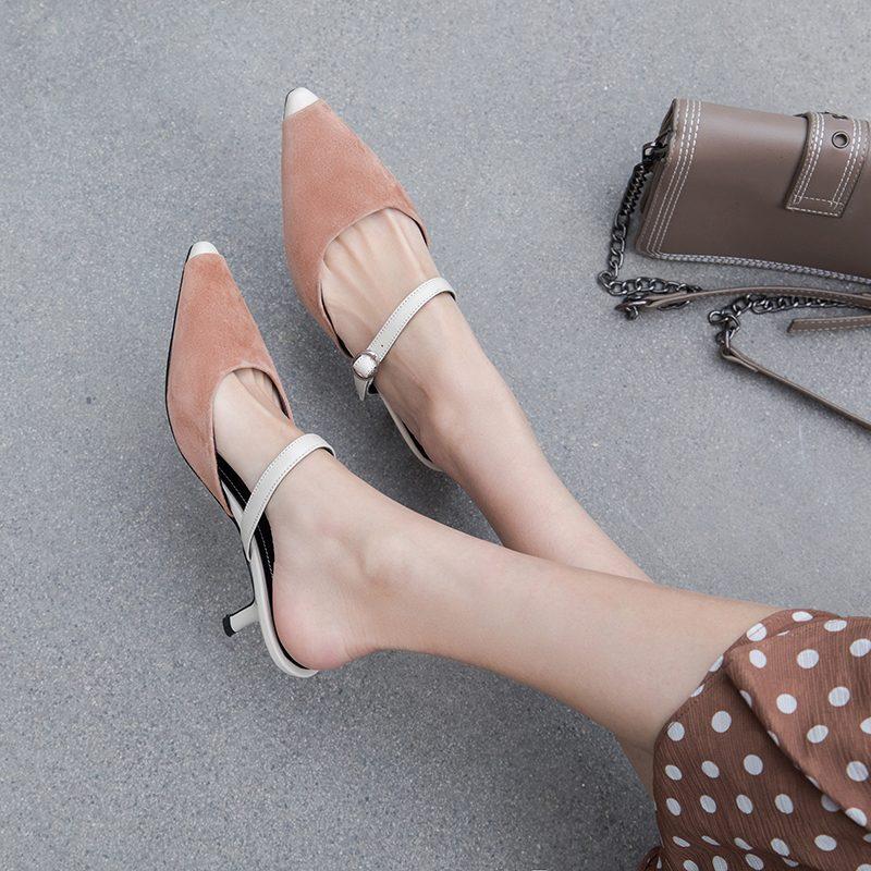 Chiko Kellsie Pointed Toe Kitten Heels Clogs/Mules