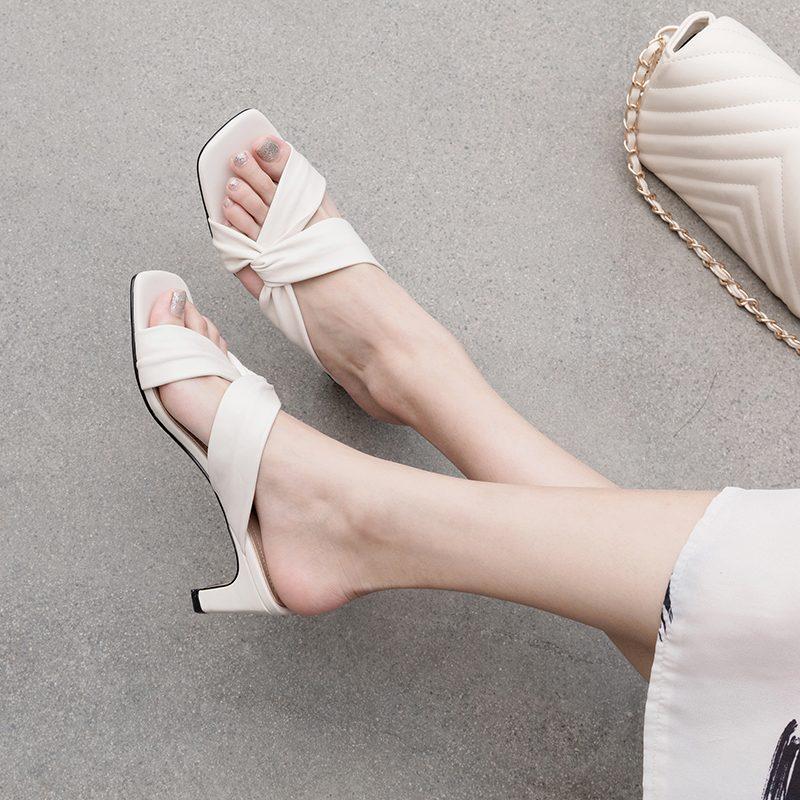 Chiko Kelsee Open Toe Chunky Heels Sandals