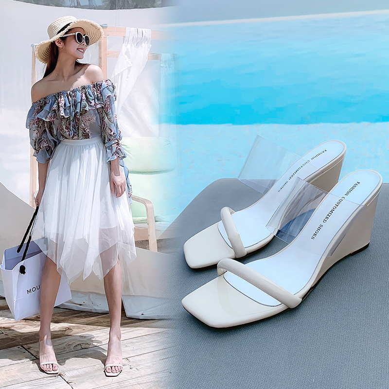 LAURY OPEN TOE WEDGE SANDALS
