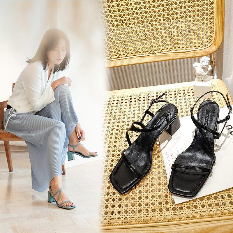 Chiko Lean Open Toe Block Heels Sandals