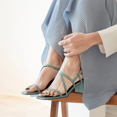 Chiko Lean Open Toe Block Heels Sandals
