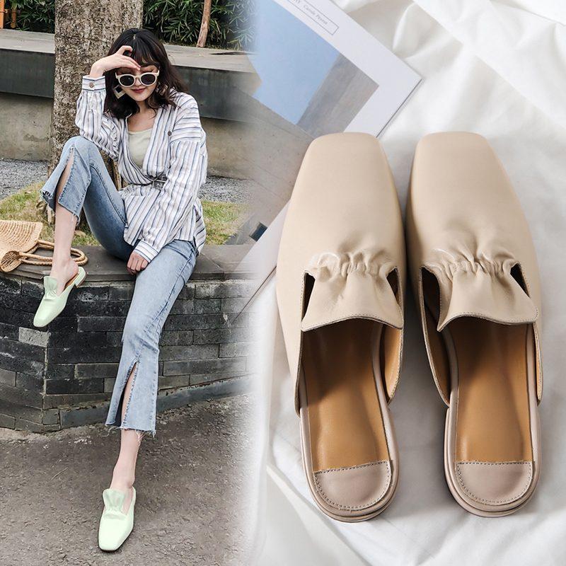 Chiko Leeann Square Toe Block Heels Clogs/Mules