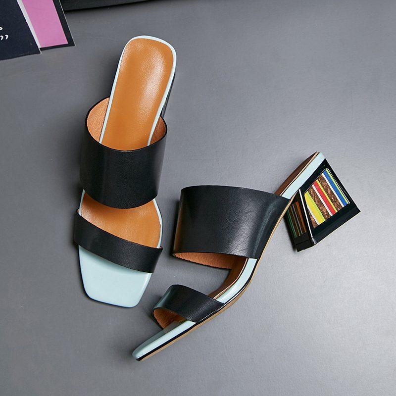 Chiko Letty Open Toe Block Heels Clogs/Mules