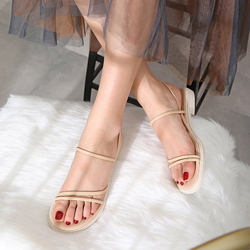 LEVYNA OPEN TOE BLOCK HEELS SANDALS