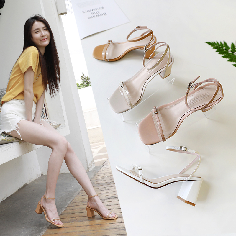 LIAMA OPEN TOE BLOCK HEELS SANDALS