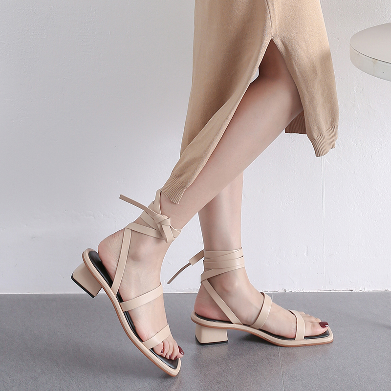 LINSEY OPEN TOE BLOCK HEELS SANDALS