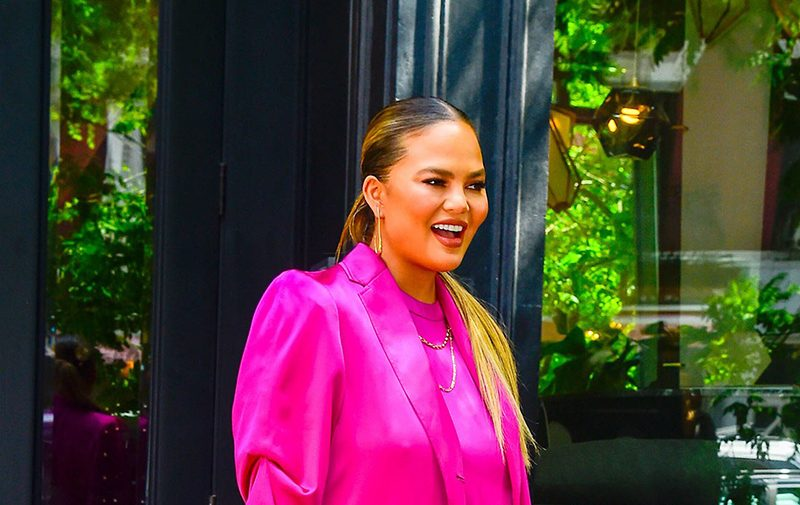 Chrissy Teigen string sandals