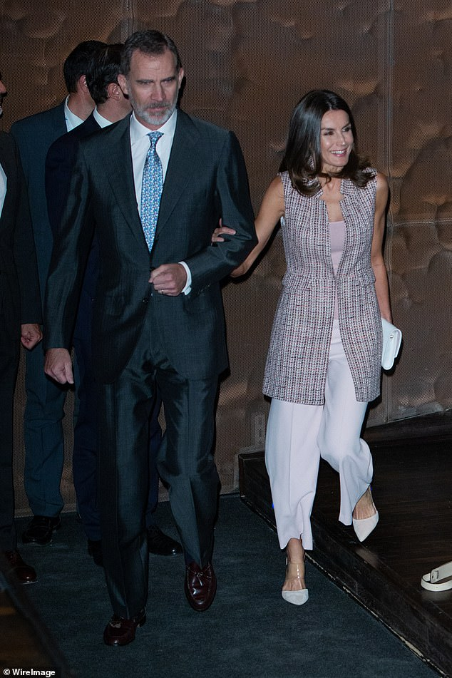 Spanish Queen Letizia plastic shoes