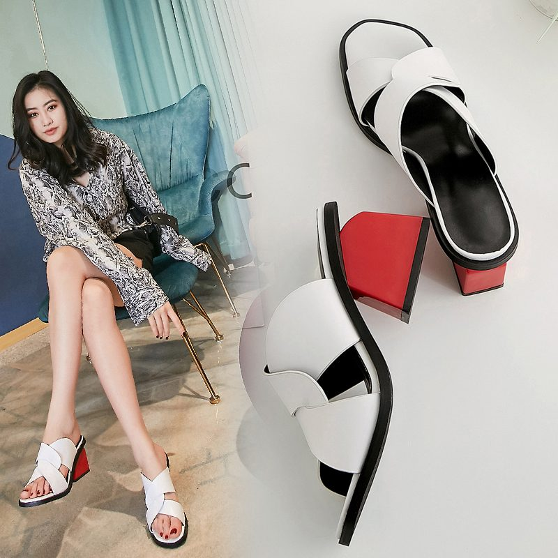 Chiko Maddie Open Toe Block Heels Sandals