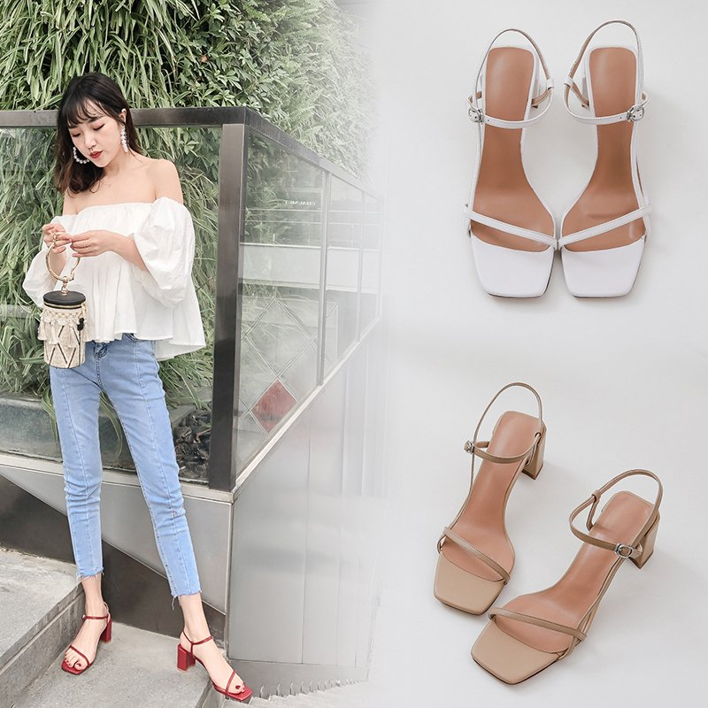 MADYSON OPEN TOE BLOCK HEELS SANDALS