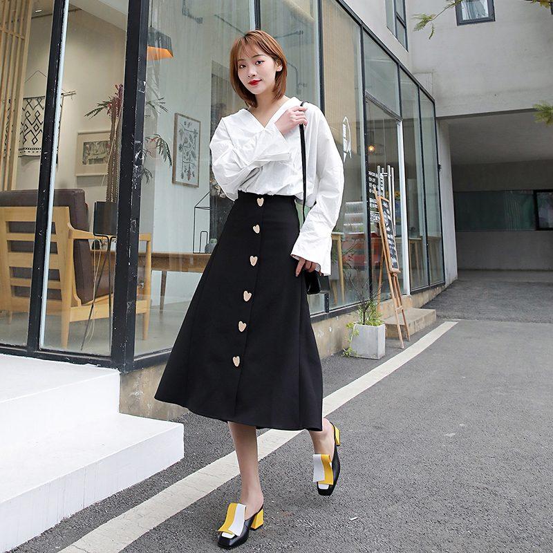 Chiko Maggi Square Toe Block Heels Clogs/Mules