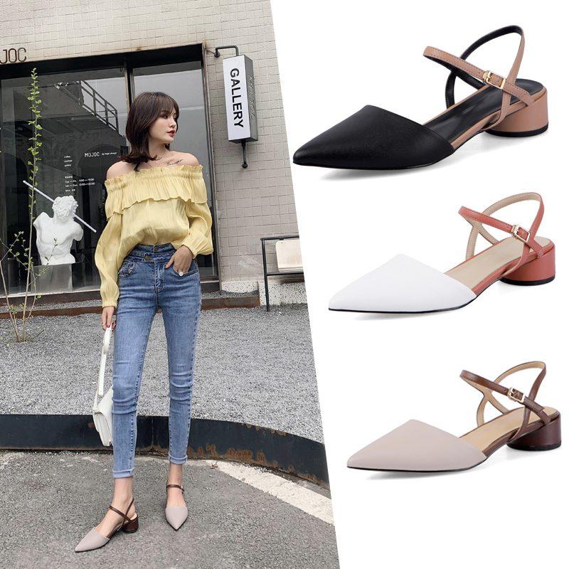Chiko Maida Pointed Toe Block Heels Pumps