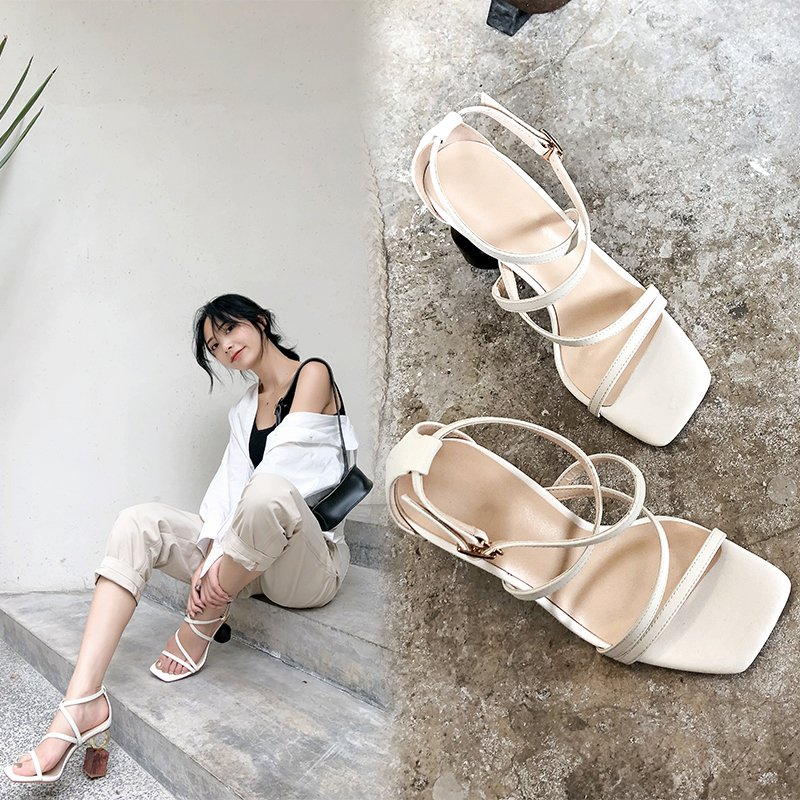 MEADOW OPEN TOE BLOCK HEELS SANDALS