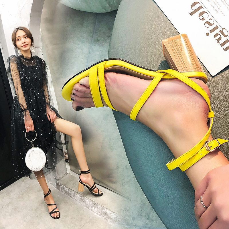 Chiko Nellwyn Open Toe Block Heels Sandals