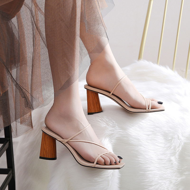 STARLA OPEN TOE BLOCK HEELS SANDALS