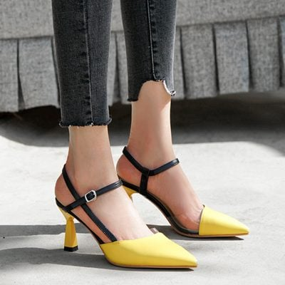 Chiko Stormi Pointed Toe Kitten Heels Pumps