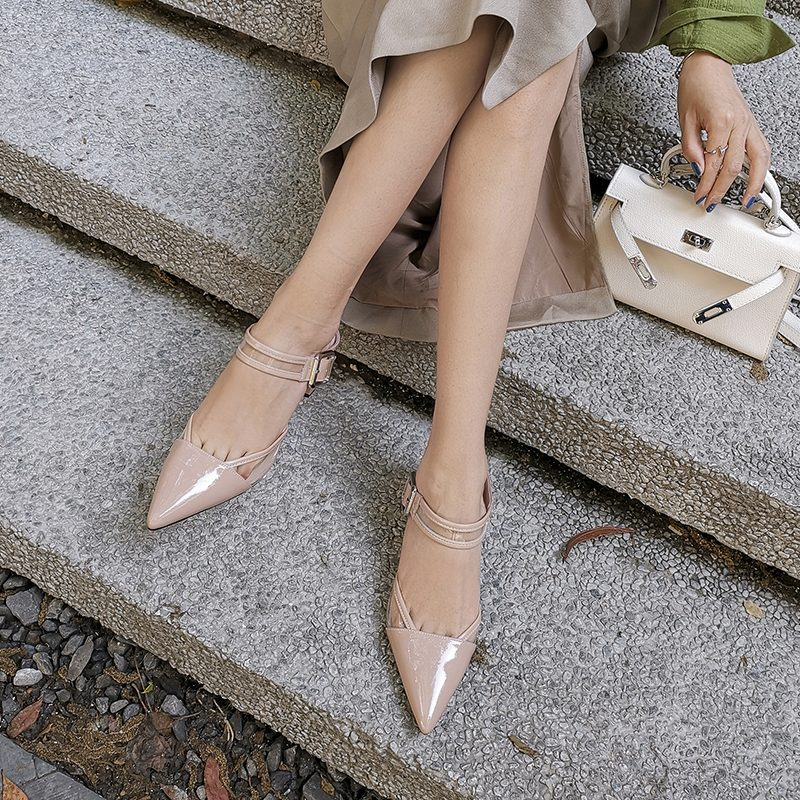 Chiko Tamiya Pointed Toe Block Heels Clogs/Mules