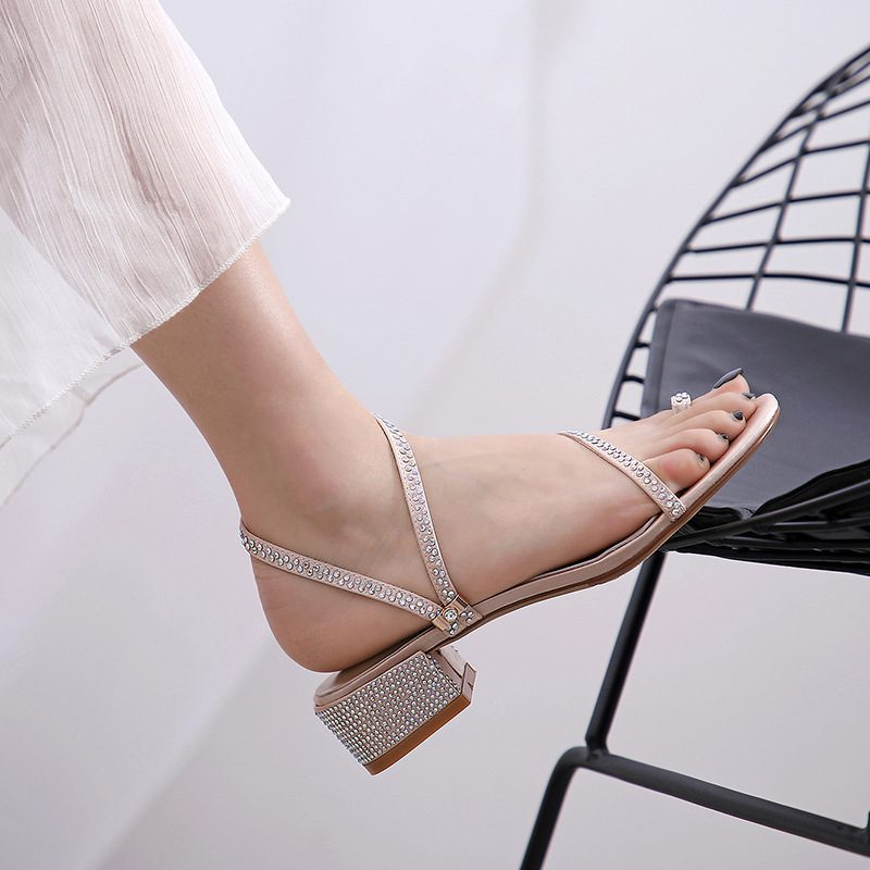 Chiko Star Open Toe Block Heels Sandals