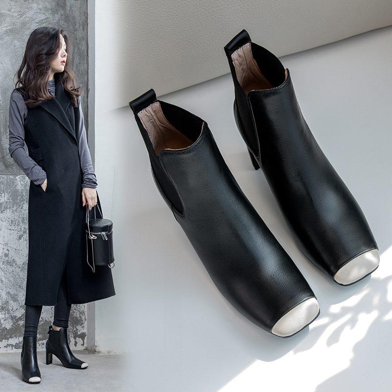 Chiko Zaina Square Toe Chunky Heels Boots