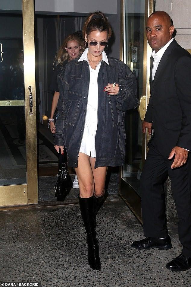 Bella Hadid summer boots style