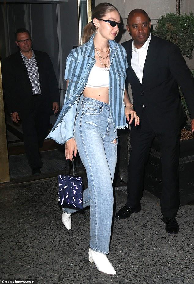 Gigi Hadid summer boots style