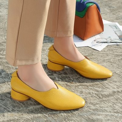Chiko Genevieve Square Toe Block Heels Pumps