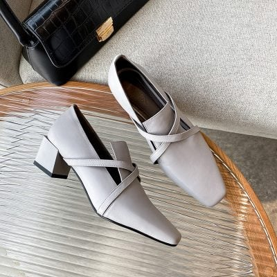 Chiko Acacia Square Toe Block Heels Loafer
