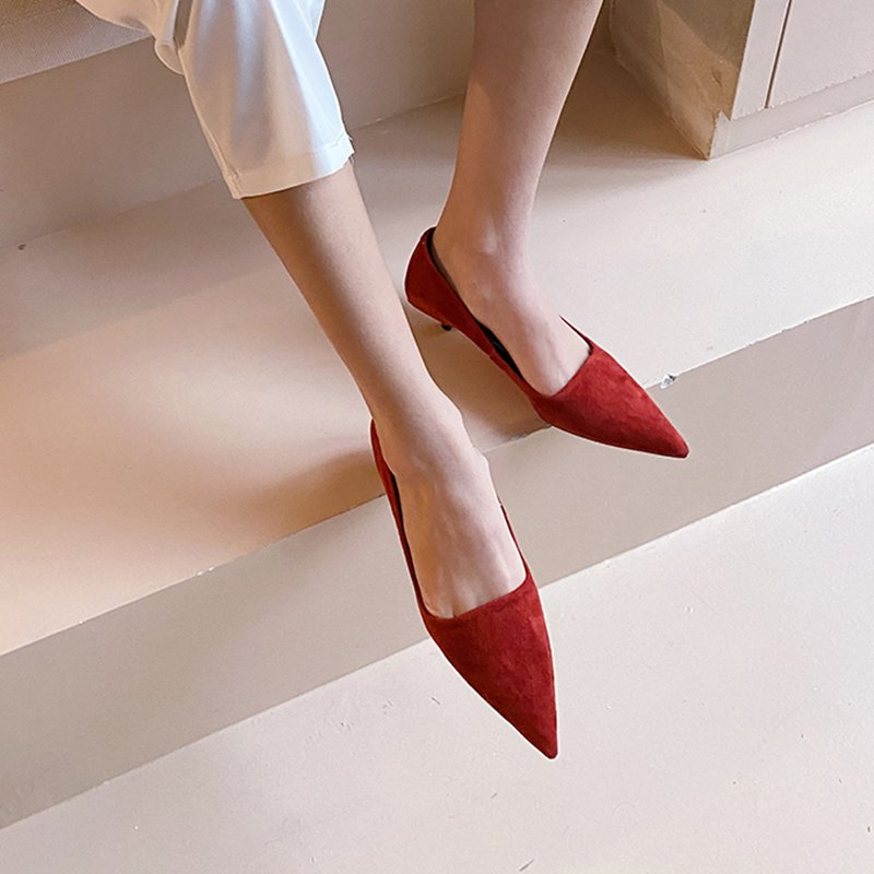 Chiko Charice Pointed Toe Kitten Heels Pumps