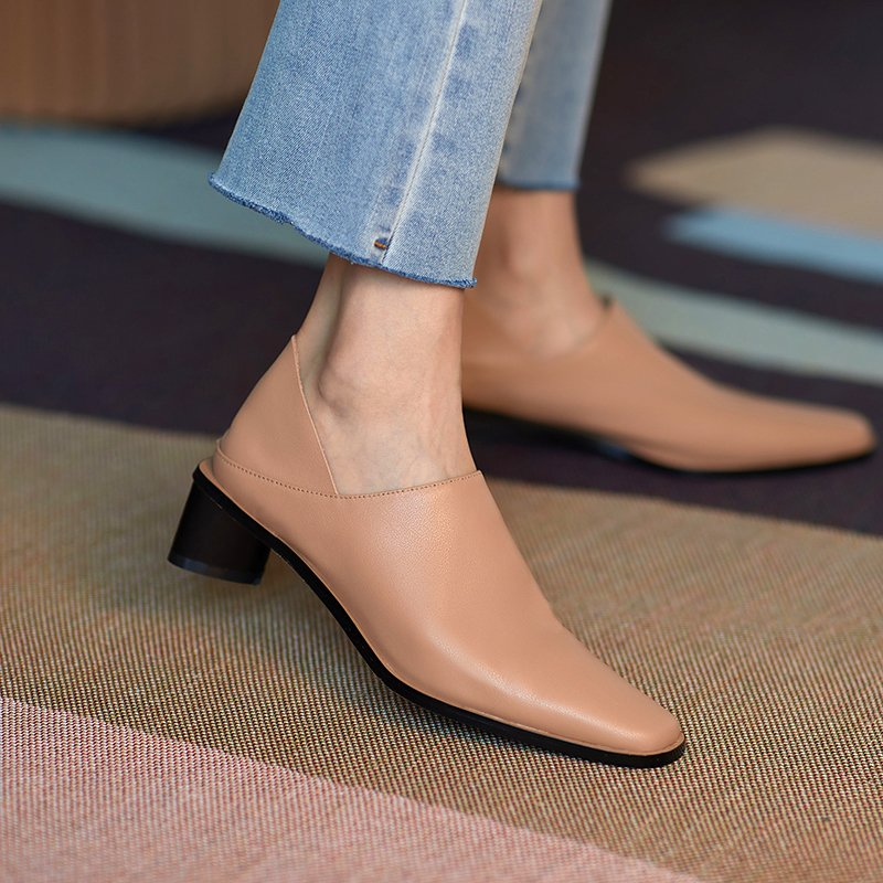 Chiko Nicasia Square Toe Block Heels Pumps