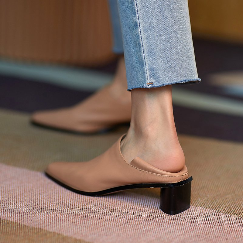 Chiko Nicasia Square Toe Block Heels Pumps