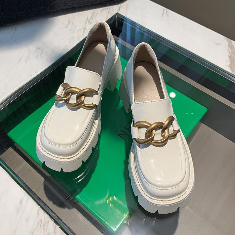 Chiko Nita Round Toe Block Heels Loafer
