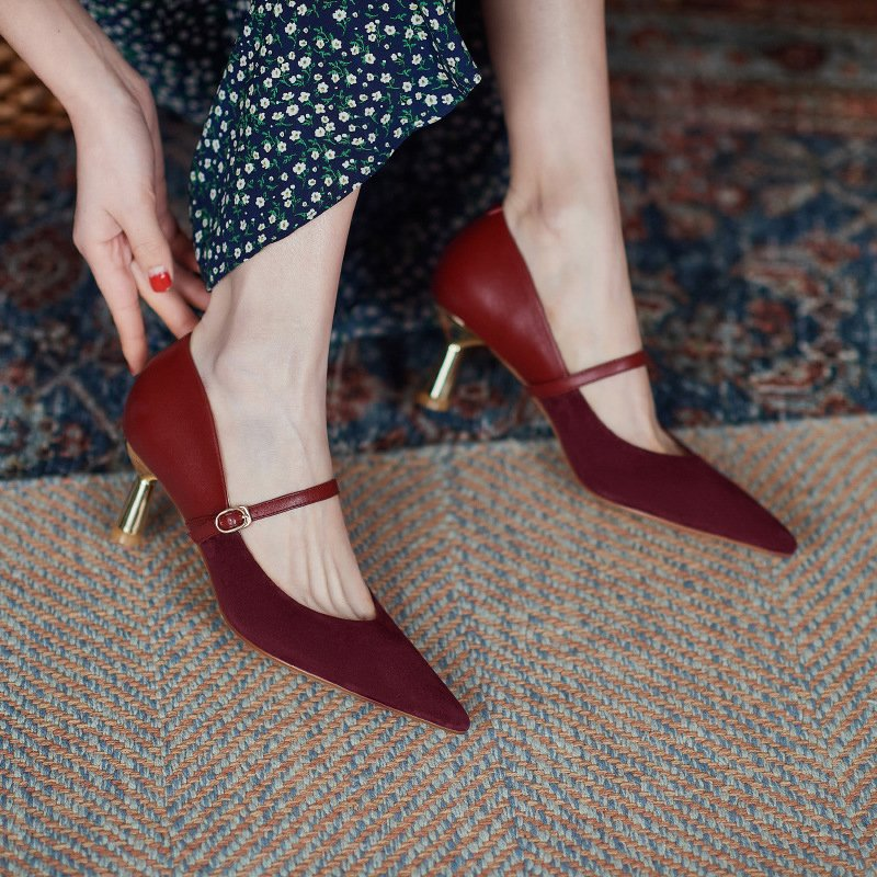 Chiko Oma Pointed Toe Kitten Heels Pumps