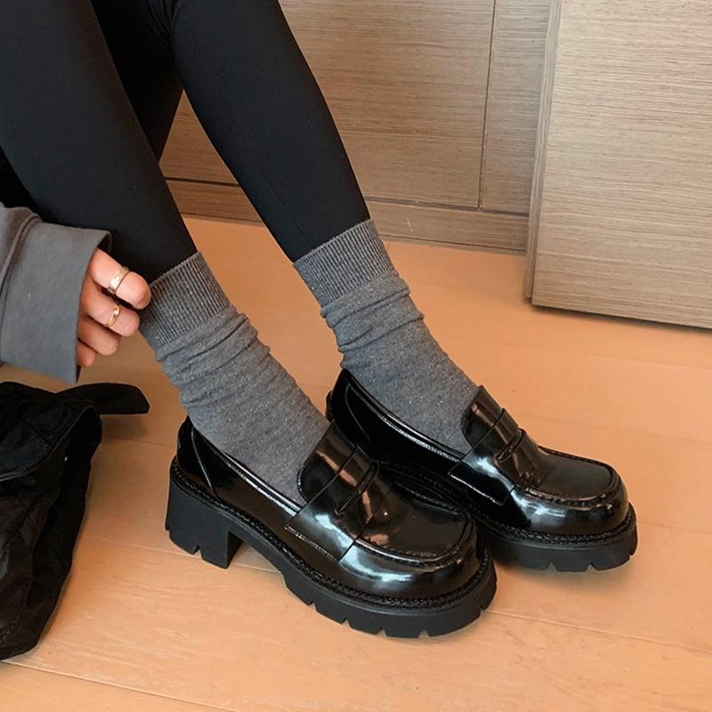 Chiko Sammi Square Toe Block Heels Loafer