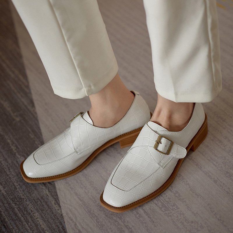 Chiko Samone Square Toe Block Heels Oxford