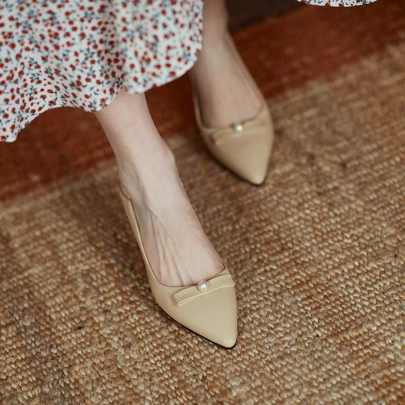 Chiko Sarrah Pointed Toe Curved Heels Pumps