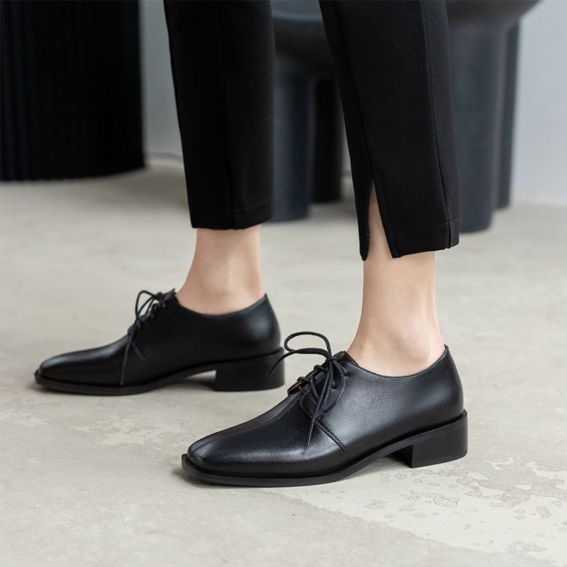 Chiko Sheena Square Toe Block Heels Oxford