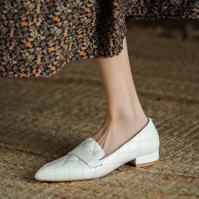 Chiko Sherron Pointed Toe Block Heels Loafer