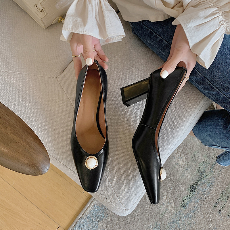 Chiko Shylo Square Toe Block Heels Pumps