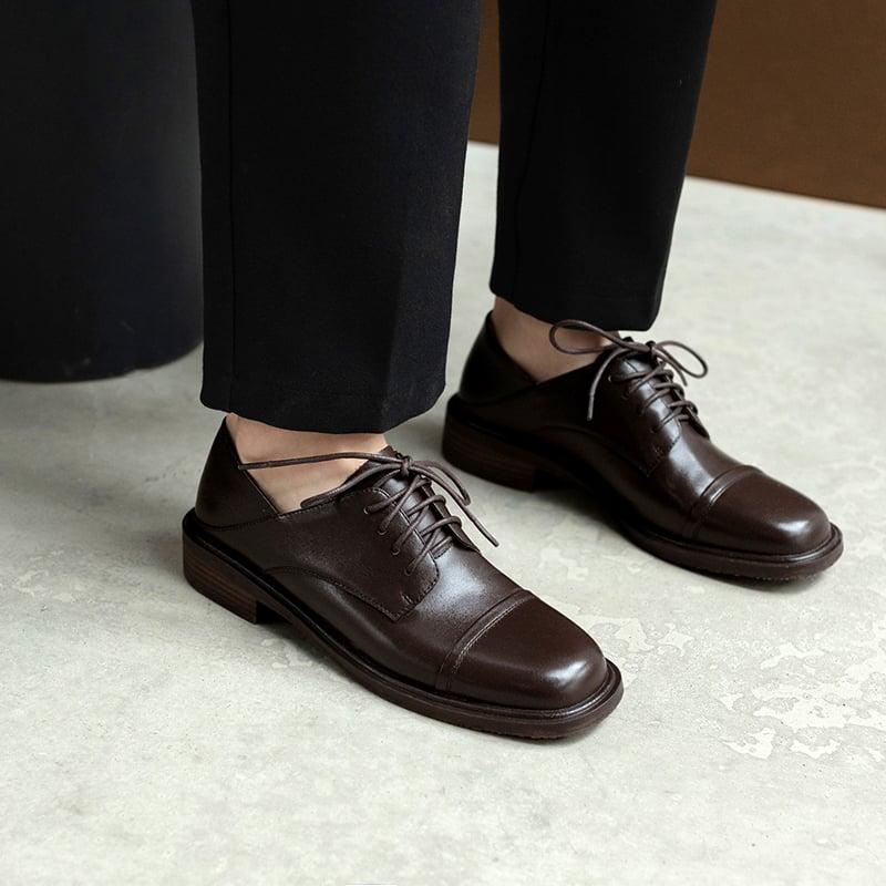 Chiko Shyra Square Toe Block Heels Oxford