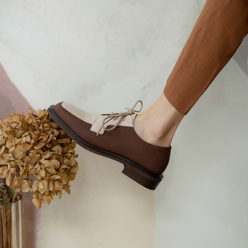 Chiko Sula Square Toe Block Heels Oxford