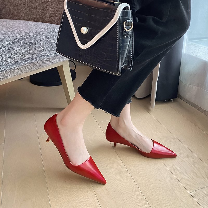Chiko Susana Pointed Toe Kitten Heels Pumps