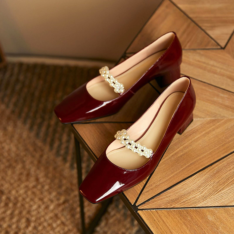 Chiko Tamara Square Toe Block Heels Pumps