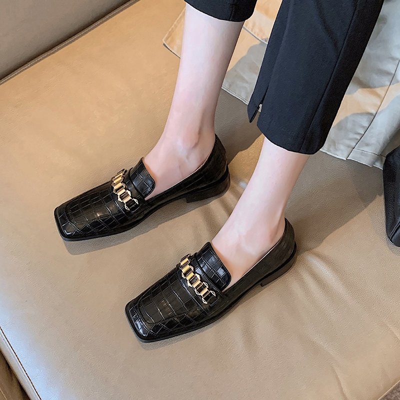 Chiko Tamassa Square Toe Block Heels Loafer
