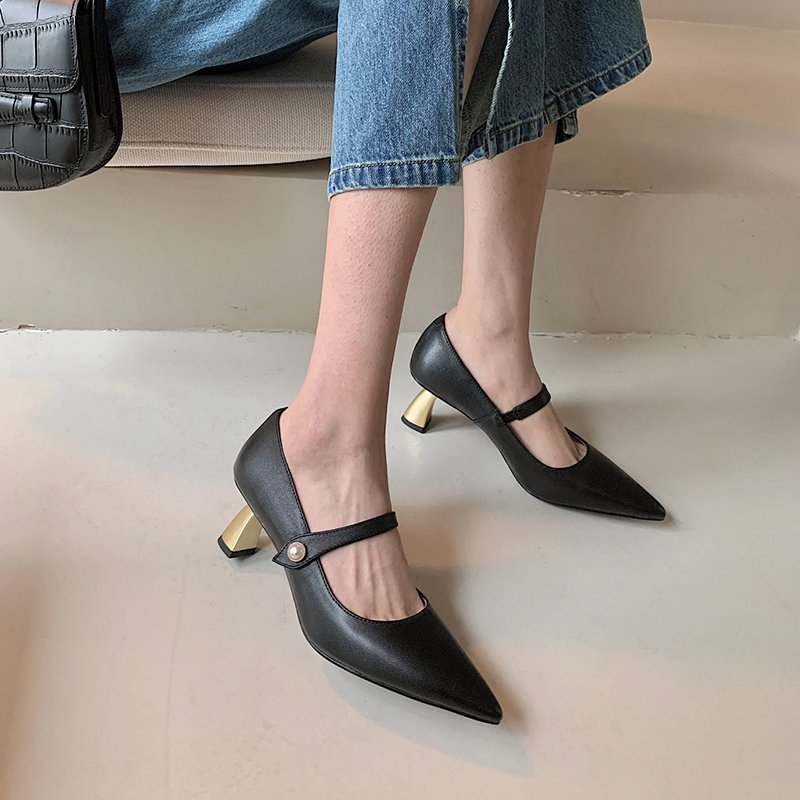 Chiko Tammy Pointed Toe Curved Heels|Kitten Heels Pumps
